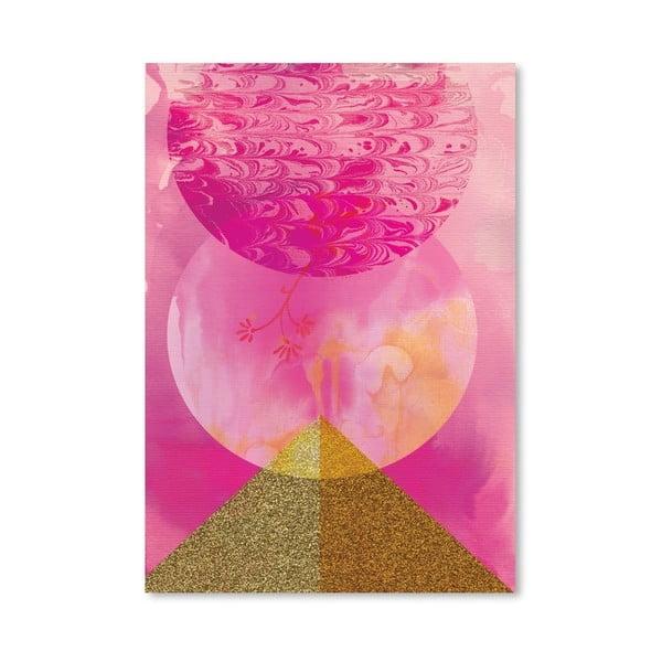 Plagát Golden Pink, 30x42 cm