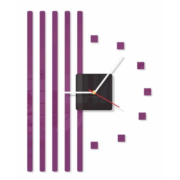 Hodiny z plexiskla Points Purple