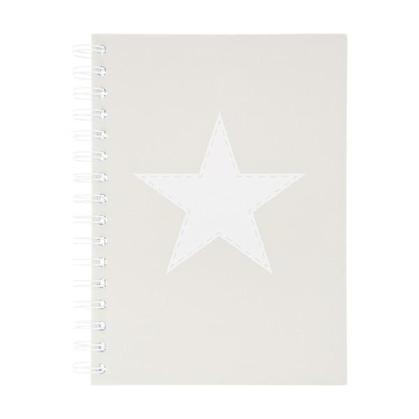 Zápisník Stars Grey