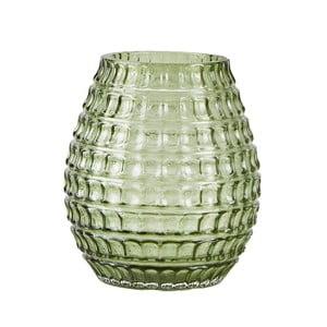 Zelená sklenená váza so vzorom Villa Collection, ∅9cm
