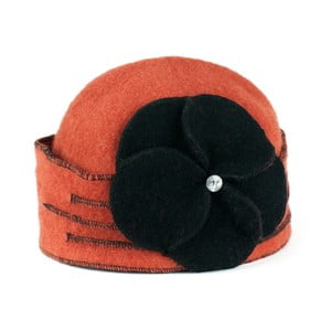 Tehlovooranžová dámska vlnená čiapka Art of Polo Gina