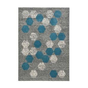 Modrosivý koberec DECO CARPET Dotty, 160×230 cm