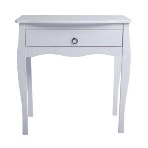 Biely konzolový stolík zborovicového dreva SOB Oculus