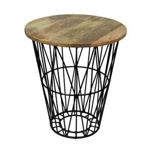 Odkladací stolík z mangového dreva HSM Collection Tower, ⌀ 45 cm