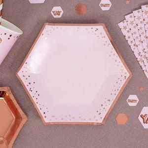 Sada 8 ružových tácok Neviti Glitz & Glamour Stars, ⌀ 20 cm
