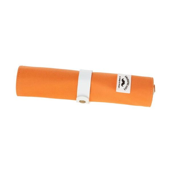 Rolovací Peračník Mustache, oranžový