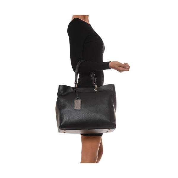 Kožená kabelka Freya, čierna