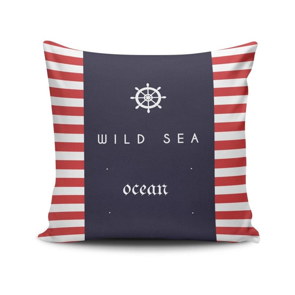 Vankúš s prímesou bavlny Cushion Love Navy, 45 × 45 cm