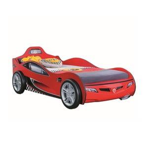 Červená detská posteľ v tvare auta Race Cup Carbed Red, 90 × 190 cm