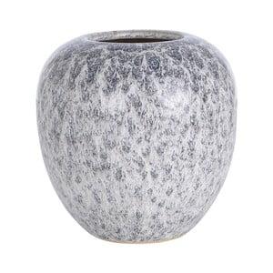Sivá keramická váza A Simple Mess Yst, ⌀18,5cm