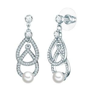 Náušnice s bielou perlou Perldesse Boi,⌀6 mm