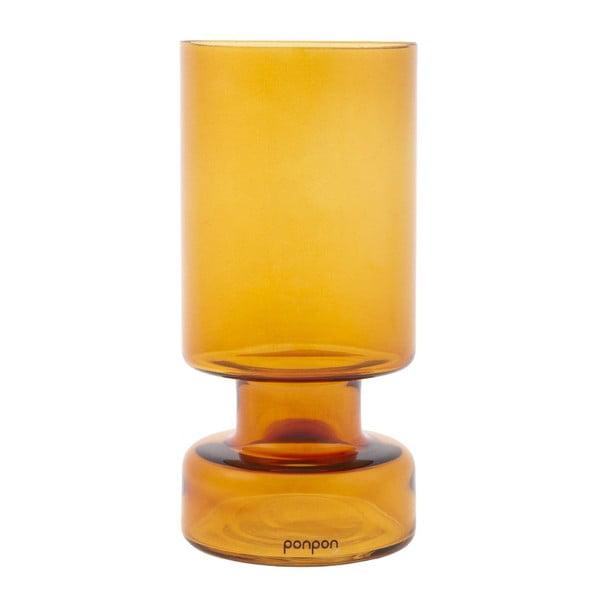 Váza/svietnik Delhi 31 cm, ambra
