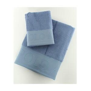 Sada 2 osušiek US Polo Plattsburg Blue, 50x90 a 90x150 cm