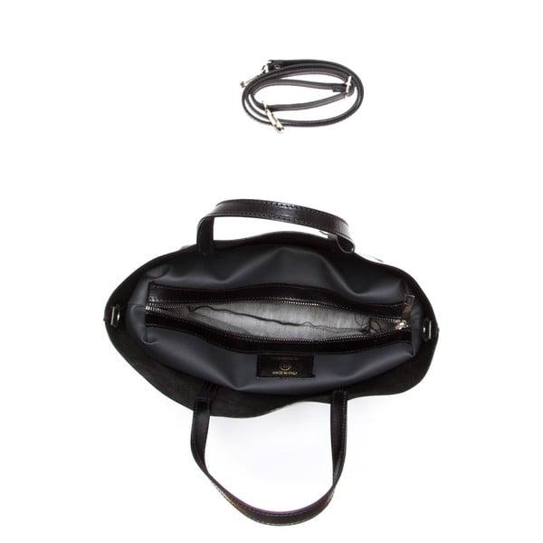 Čierna kožená kabelka Sofia Cardoni Nora