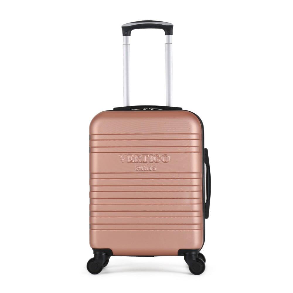 Ružový cestovný kufor na kolieskach VERTIGO Valises Cabine Cadenas Muela