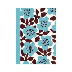 Zápisník s kvetinami vo formáte A6 linajkový Rex London, 60 strán