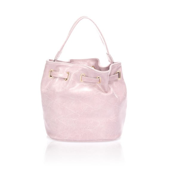 Kožená kabelka Prisha, ružová