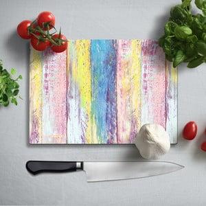 Farebná doska na krájanie z tvrdeného skla Insigne Singalo, 35 × 25 cm