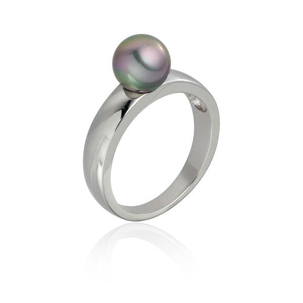 Perlový prsteň Jeanne Silver/Grey, veľ. 60