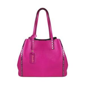 Fuksiová kožená kabelka Maison Bag Milú