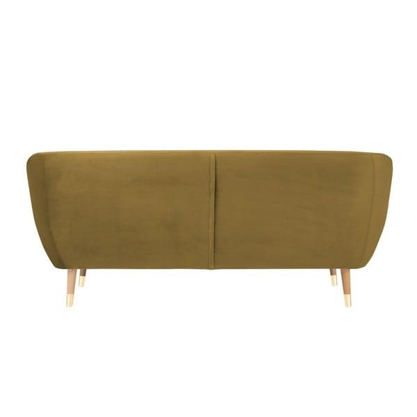 Trojmiestna pohovka v zlatej farbe Mazzini Sofas Amelie