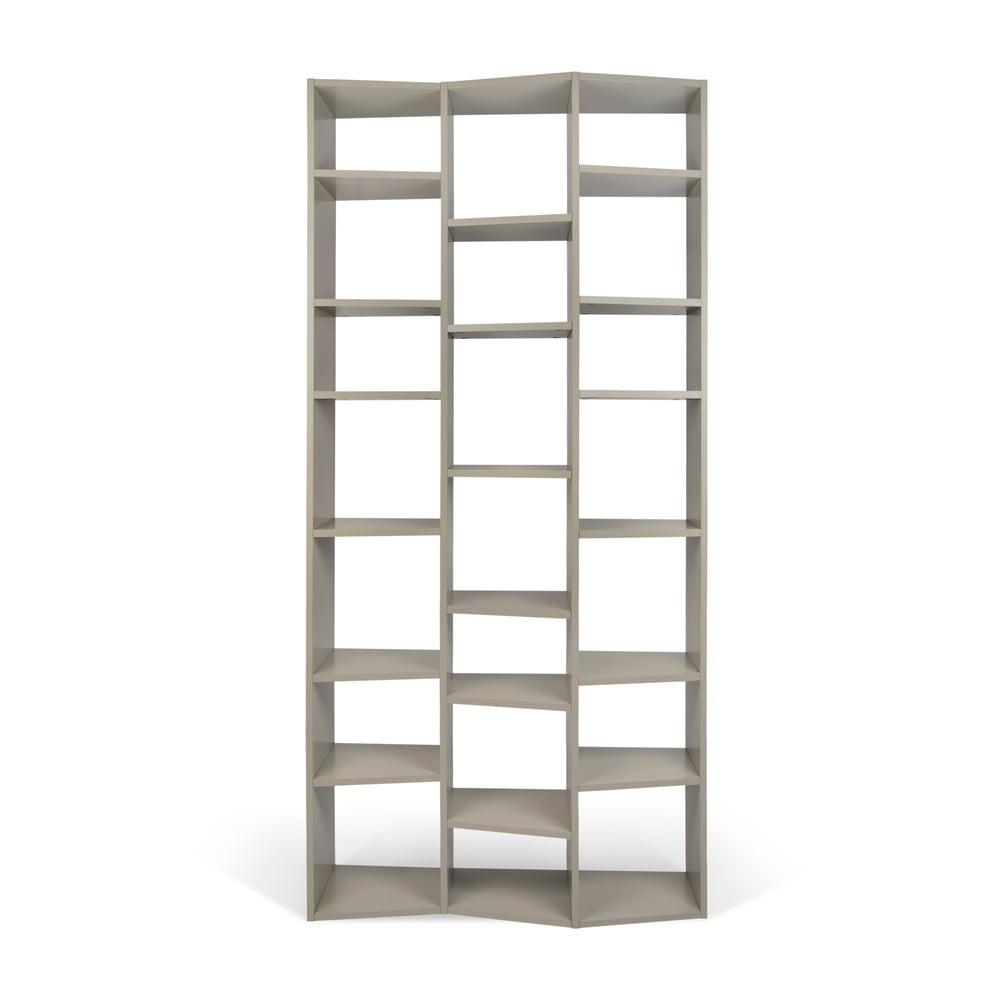 Sivá knižnica TemaHome Valsa, výška 224 × 110 cm