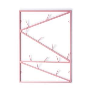 Ružový nástenný vešiak &New Twigs
