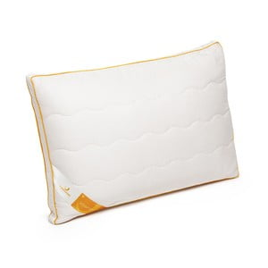 Biely vankúš s vlnou merino Lana Green Future, 45 x 65 cm