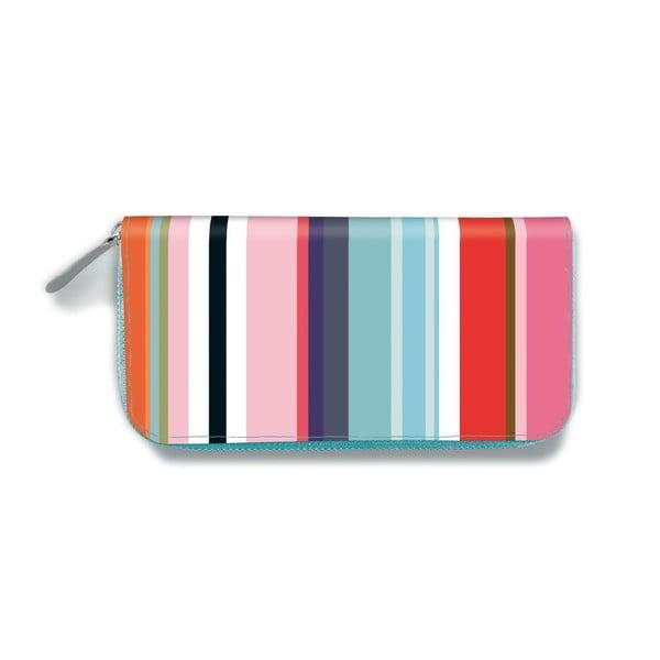 Kožená dámska peňaženka Remember Colour Stripes