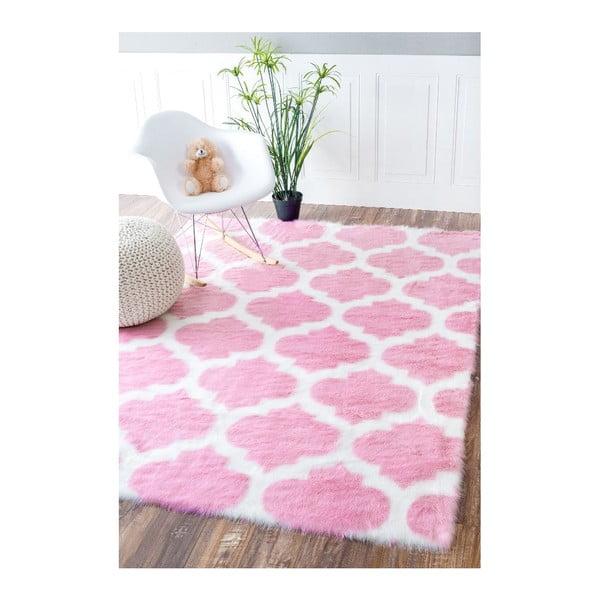 Ružový koberec nuLOOM State Pink,122x183cm