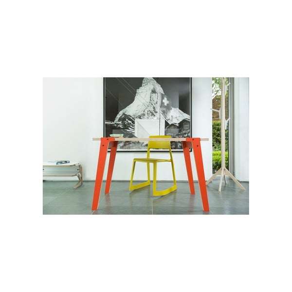 Modrý jedálenský/pracovný stôl rform Switch, doska 122x63cm