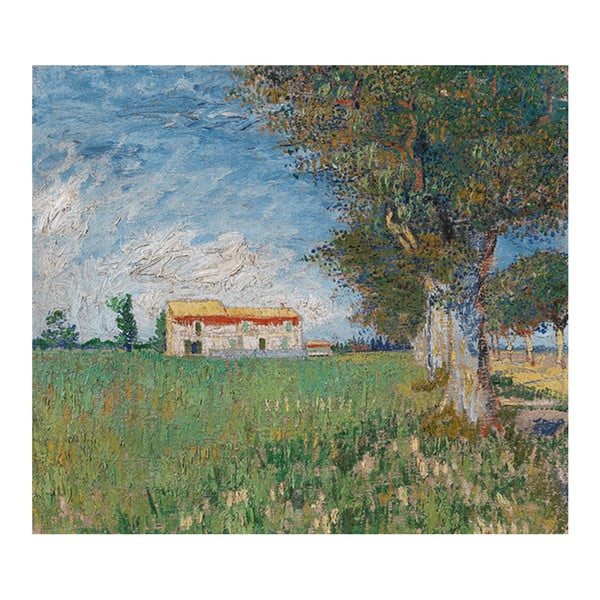Obraz Vincenta van Gogha - Farmhouse in a Wheatfield, 50x60cm