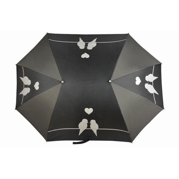 Čierny dáždnik pre dvoch Ambiance Pour Aux