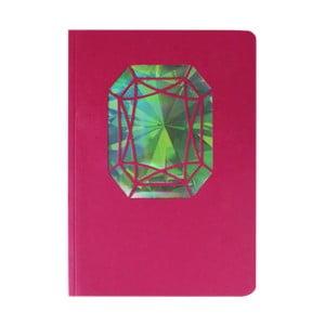 Zápisník A6 Portico Designs Smaragd, 124stránok