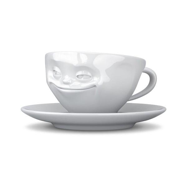 Biely usmievavý hrnček na kávu 58products
