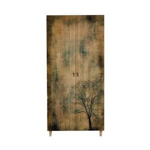 Drevená šatníková skriňa Ursula Tree