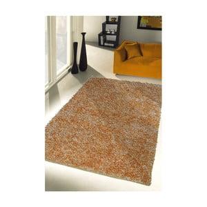 Žltý koberec Webtappeti Shaggy, 60 x 100 cm