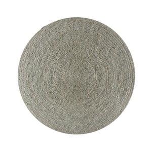 Koberec z juty Linen Rug Circle Grey, ⌀ 140 cm