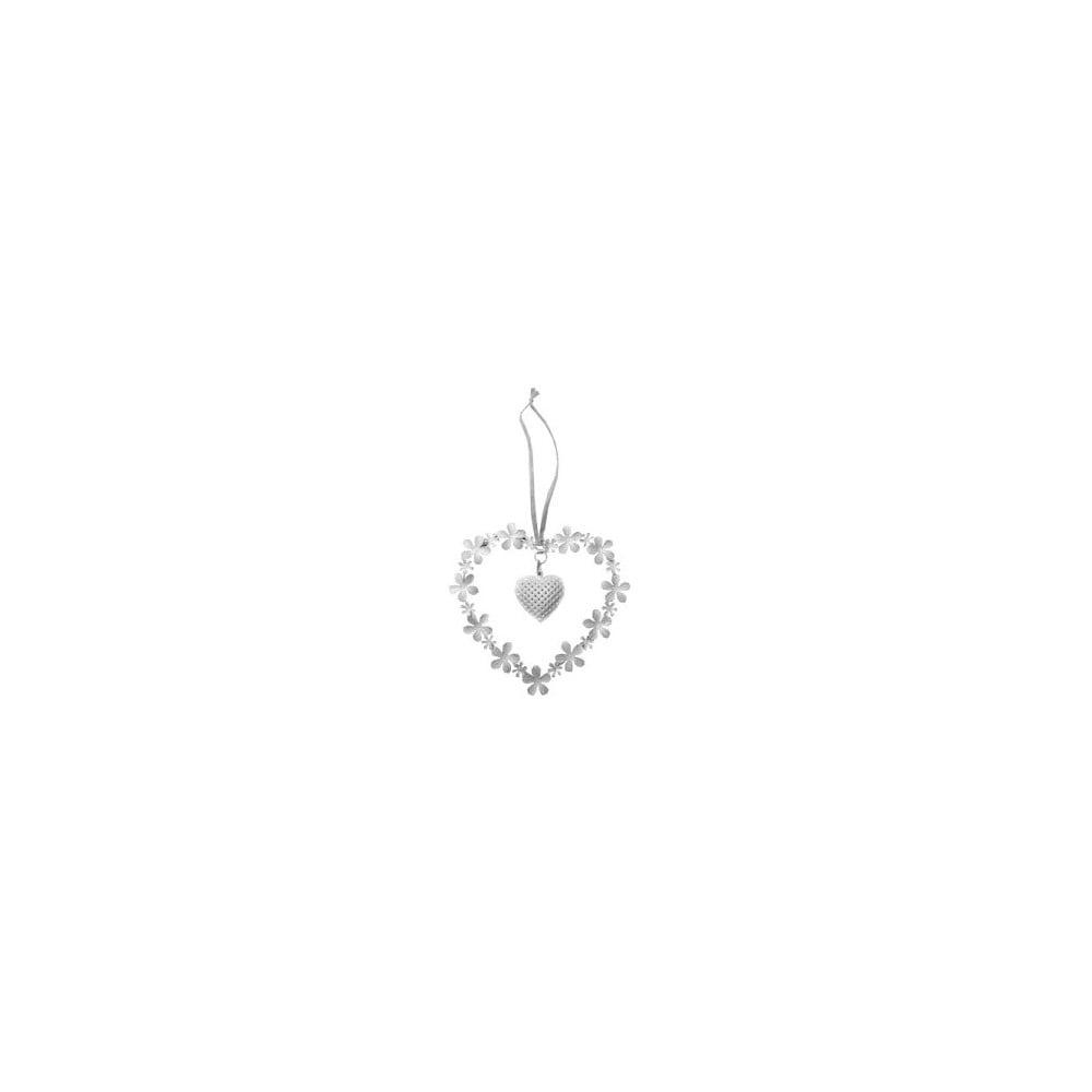 Závesné dekoratívne srdce Antic Line Flowers