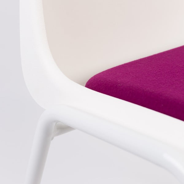 Fialovo-biela stolička Zuiver Back to Gym