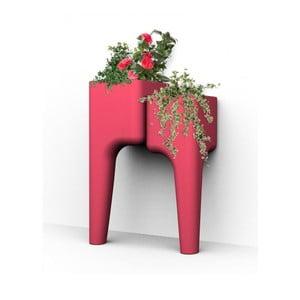 Dizajnový kvetináč KIGA Small 88x34 cm, červený