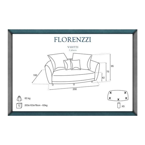Tyrkysová pohovka pre dvoch Florenzzi Viotti