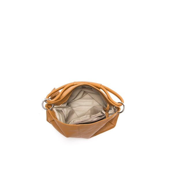 Kožená kabelka Anna Luchini 71 Cognac