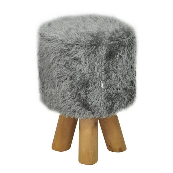 Stolička Happy Barok Kivi Fur, sivá