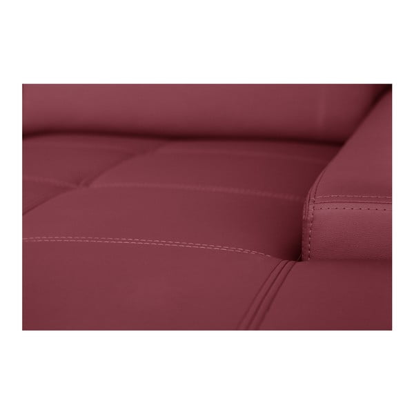Ružová pohovka Modernist Cardigan, pravý roh