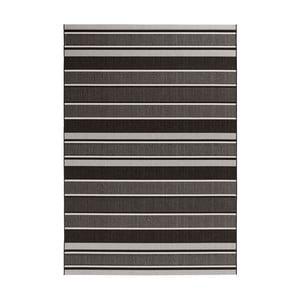Čierno-sivý koberec vhodný aj do exteriéru Strap, 120×170 cm