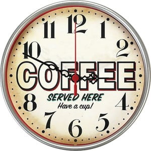 Nástenné hodiny Served Here, 30 cm