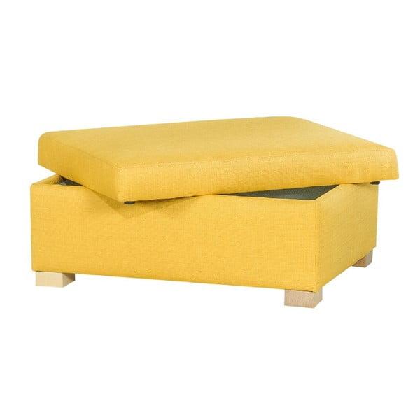 Taburetka s úložným priestorom A-Maze, žltá