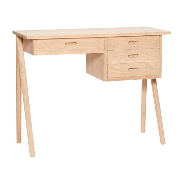 Pracovný stôl z dubového dreva so 4 zásuvkami Hübsch Ejnar
