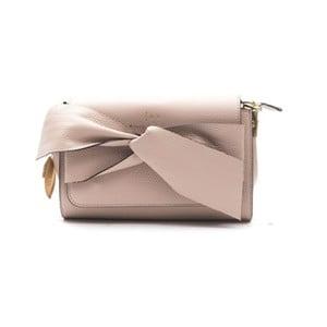 Ružovobéžová kožená kabelka f.e.v. by Francesca E. Versace Calima